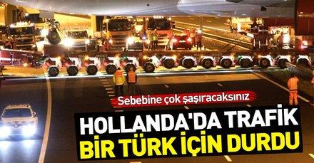Türk iş adamının otelin bahçesine koyacağı uçak otoyoldan geçti