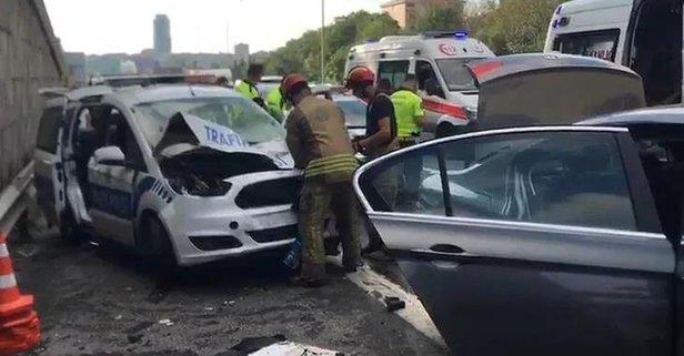 TEM Otoyolu'nda kaza! Yaralılar var