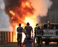 Formula 1 Bahreyn GP'de korkunç kaza!