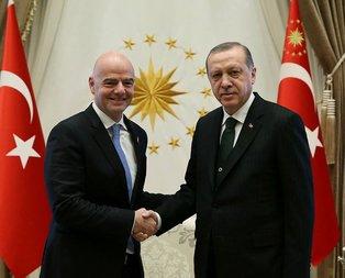 Erdoğan FIFA Başkanı Infantino ile görüştü