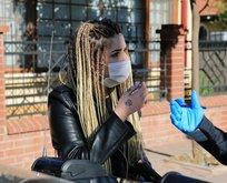 Maske takmadığı için ceza kesilen kadından polislere tehdit