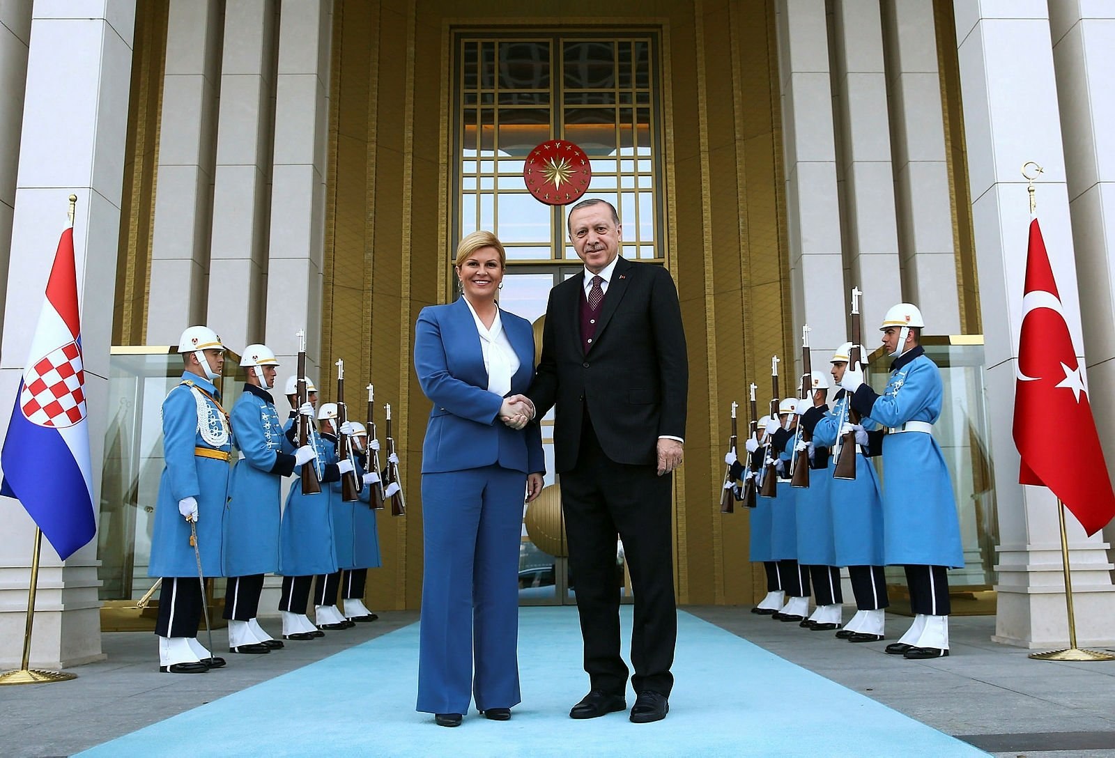 Hırvatistan Cumhurbaşkanı Kitarovic Ankara'da
