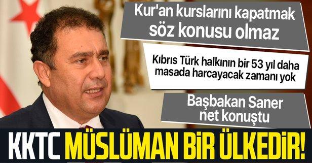 KKTC Başbakanı Saner'den Kur'an kursu açıklaması