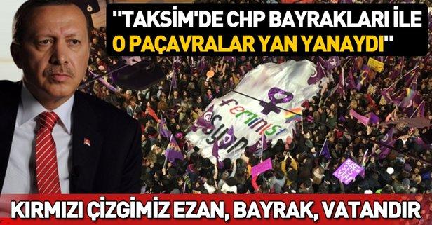 Başkan Erdoğan: Bu milletin kırmızı çizgisi ezan, bayrak ve vatandır