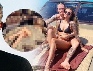 Beşiktaşlı Loris Karius'un nişanlısı Sophia Thomalla kamyoncu dergisine kapak kızı oldu