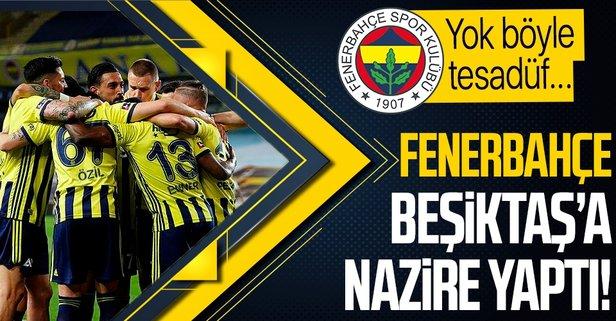 Fenerbahçe'den Beşiktaş'a nazire! Büyük tesadüf...
