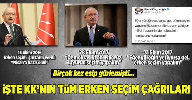 Kılıçdaroğlu da erken seçim istemiş!