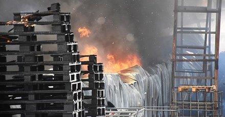 Malatya'da dondurma fabrikasında yangın