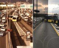Metrobüs kaza yaptı! Seferler durdu