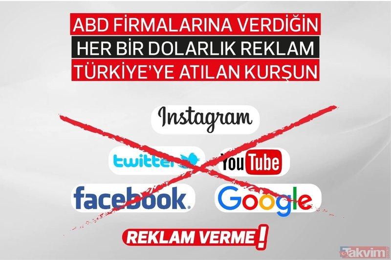 Sosyal medyada büyük kampanya: ABD kuruluşlarına reklam verme