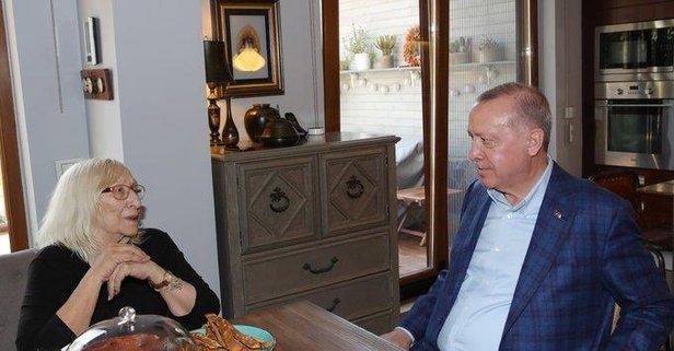 Başkan Erdoğan, Alev Alatlı'yı ziyaret etti