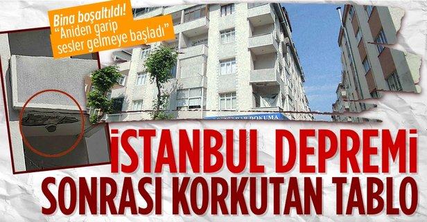 İstanbul depremi sonrası korkutan görüntü!