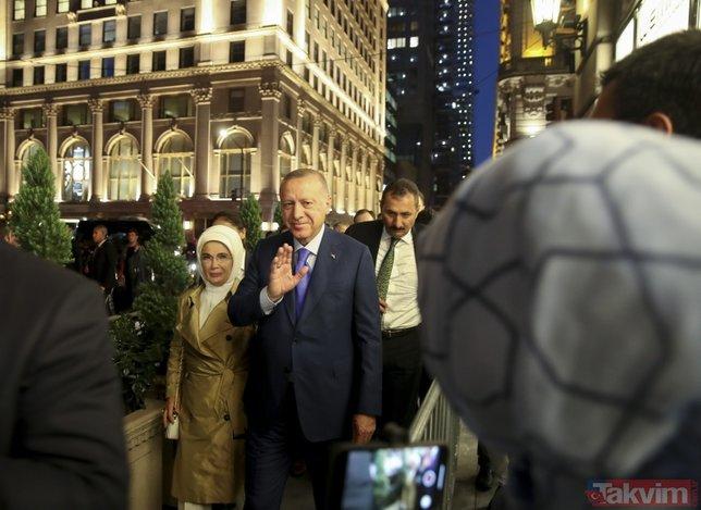 Başkan Erdoğan´a ABD´de coşkulu karşılama