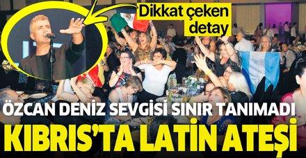 Özcan Deniz Latin Amerika'dan gelen müzikseverleri Kıbrıs'ta verdiği konserle coşturdu