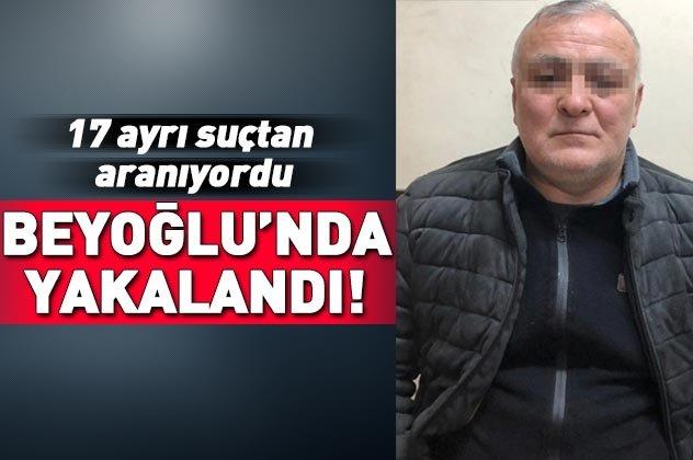 Beyoğlu'nda suç makinesi yakalandı!