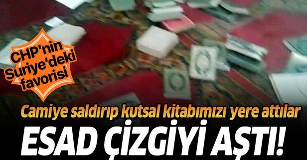 Camiye saldırıp Kur'an-ı Kerim'i yere attılar