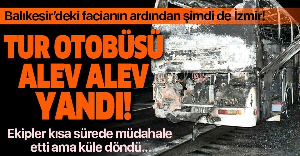 Balıkesir'deki otobüs faciasının ardından bir otobüs yangını daha!
