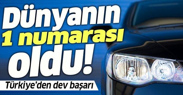Türkiye'den otomotivde dev başarı