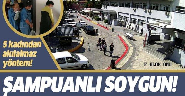 Şmapuan kutulu soygun! 5 kadın tutuklandı