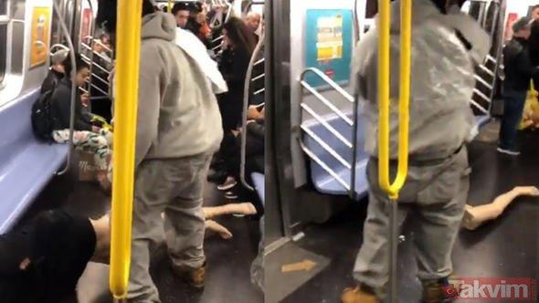 Metroda ulu orta bacağını kopardı! Görüntüler sosyal medyayı salladı