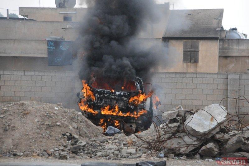 Tel Abyad'dan yeni görüntüler: Teröristlerin tuzakladığı patlayıcılar imha ediliyor