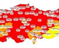Yeni koronavirüs risk haritası açıklandı!