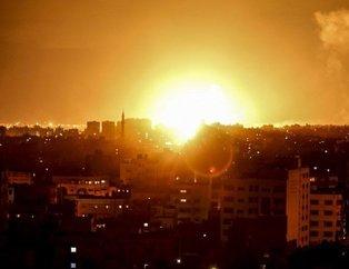 İsrailden Gazzeye 80 hava saldırısı