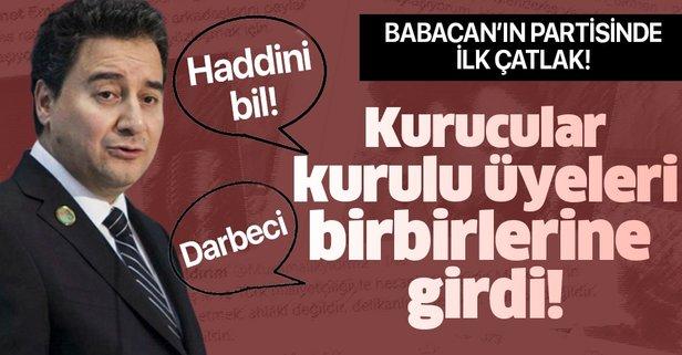 Ali Babacan'ın Deva Partisi'nde ilk çatlak!