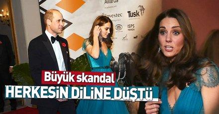 Kate Middletondan turkuaz elbise skandalı! Herkesin diline düştü