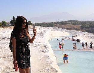 Beyaz cennet Pamukkale'de ara tatil hareketliliği