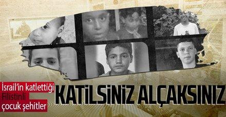 İsrail'in katlettiği Filistinli çocuk şehitler