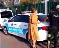 Trafik cezası kesilirken çığlık atan kadın konuştu