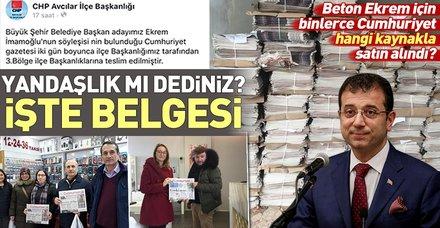 CHP'nin İstanbul adayı Ekrem İmamoğlu binlerce Cumhuriyet gazetesi alarak ücretsiz dağıttı