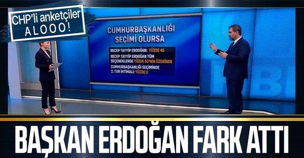 Başkan Erdoğan yüzde 60'ları gördü
