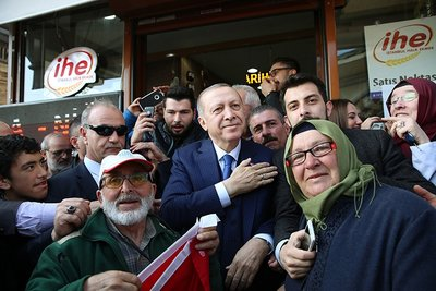 Cumhurbaşkanı Erdoğan'ın İstanbul programından ilginç kareler