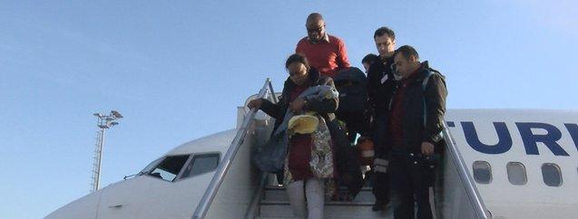 THY yolcusu Musuamba Michoukayembe 13 bin metrede doğum yaptı