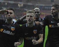 Kayseri'de tek gollü galibiyet