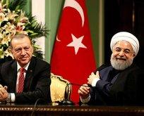 Cumhurbaşkanı Erdoğan'ın esprisi Ruhani'ye kahkaha attırdı