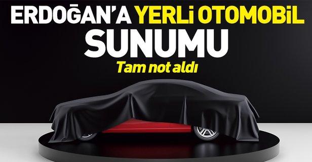 Erdoğan'a yerli otomobil sunumu
