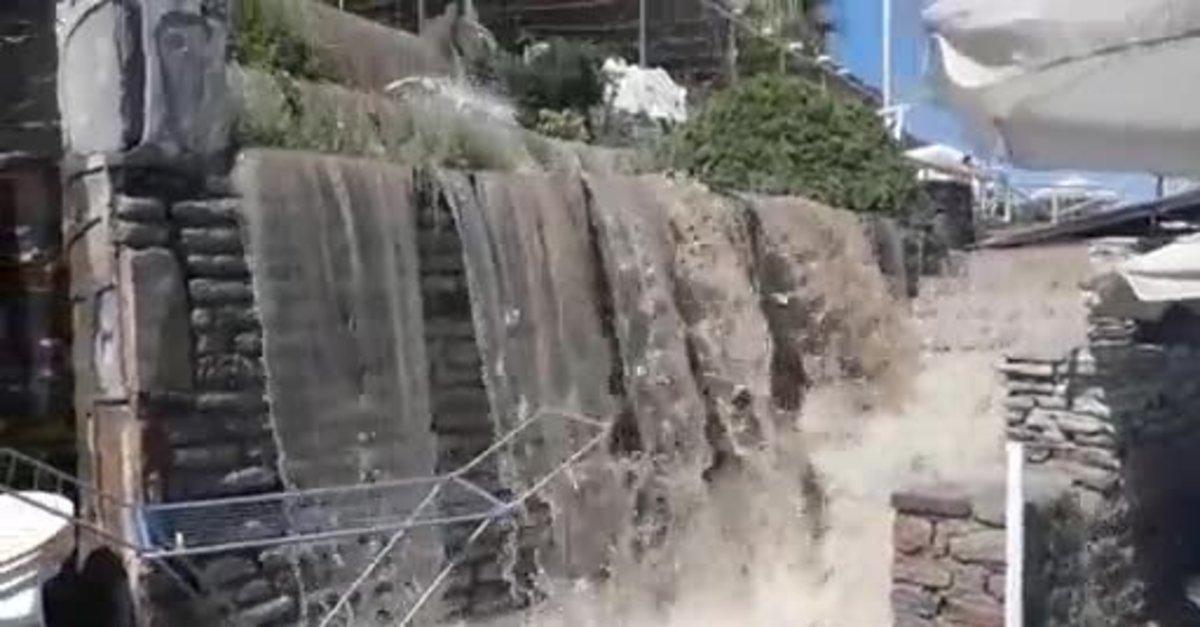 Muğla'nın Bodrum ilçesinde sular yine yollara aktı! Halk, CHP'li ...