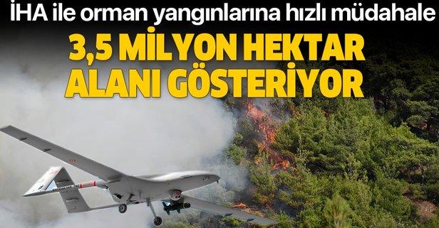 İHA ile orman yangınlarına hızlı müdahale
