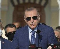 Erdoğan'dan bayram namazı sonrası önemli açıklamalar