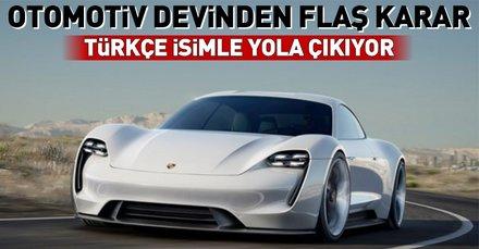 Porsche'tan yeni otomobiline Türkçe isim