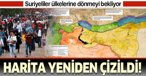 Harita yeniden çizildi! Suriyeliler ülkelerine dönmeyi bekliyor