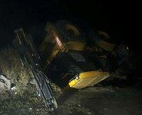 Hatay'da tren kazası! İş makinesi ile çarpıştı
