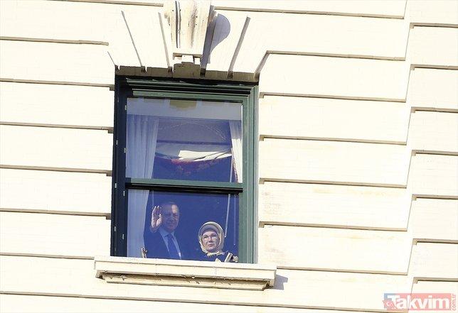 Başkan Erdoğan'a Washington'da coşkulu karşılama