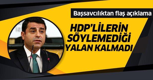 Başsavcılık'tan Demirtaş iddialarına ilişkin açıklama!