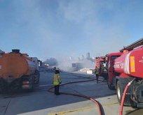 Sefaköy'de korkutan yangın