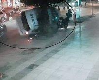 Şüpheli kovalayan polis aracı kaza yaptı!