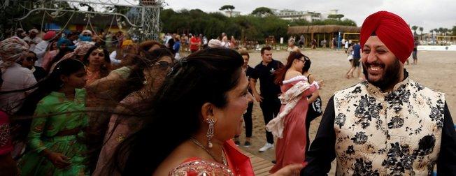 Antalya'da 1,5 milyon dolarlık Hint düğünü